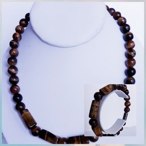 Tiger's Eye Necklace Set